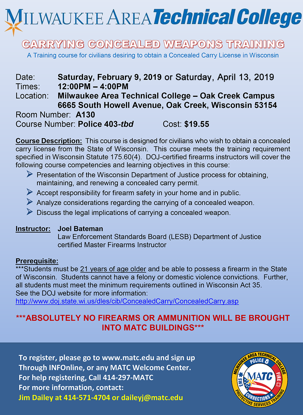 Carrying Concealed Weapons Training
